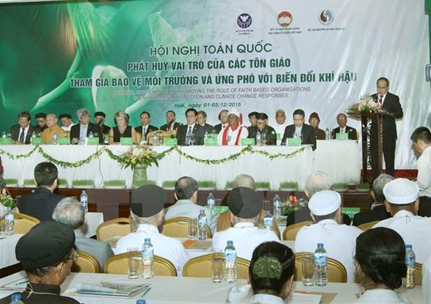 Des religions du Vietnam s'engagent a proteger l'environnement hinh anh 1