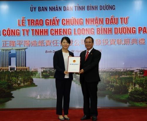 Licence d'investissement a un projet taiwanais d'un milliard de dollars hinh anh 1
