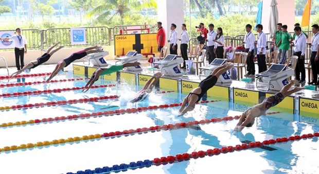 Le Vietnam deuxieme d'une competition de natation de l'Asie du Sud-Est hinh anh 1