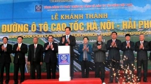 Ouverture au trafic de l'autoroute Hanoi - Hai Phong hinh anh 1