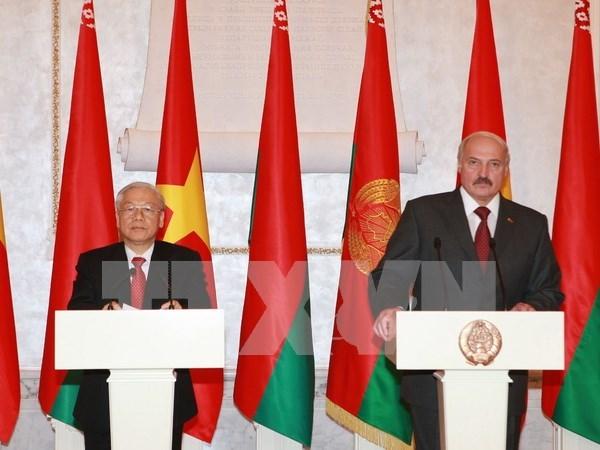 Le president bielorusse entame sa visite d'Etat au Vietnam hinh anh 1