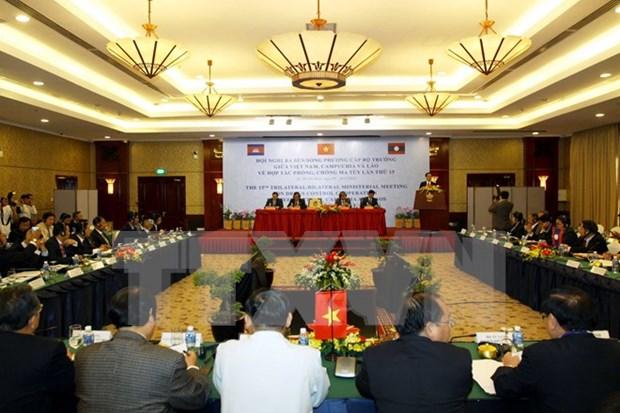 Conference ministerielle Vietnam-Laos-Cambodge de lutte contre la drogue hinh anh 1