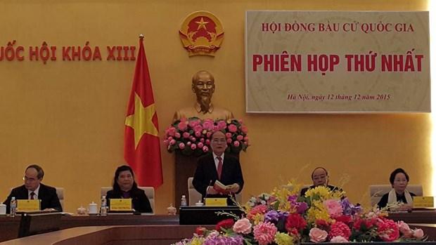 Le Conseil electoral national tient sa premiere reunion hinh anh 1
