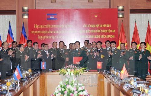 Vietnam et Cambodge renforcent leur cooperation dans la defense hinh anh 1