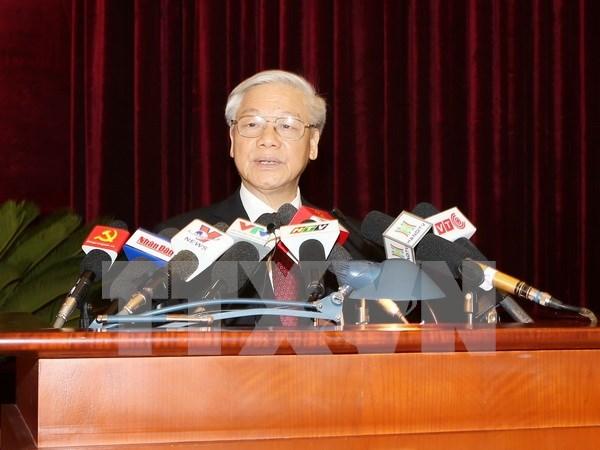 Premiere journee du 13e Plenum du Comite central du Parti hinh anh 1