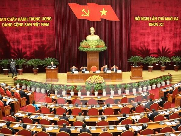 Ouverture du 13e Plenum du Comite central du Parti communiste du Vietnam hinh anh 1