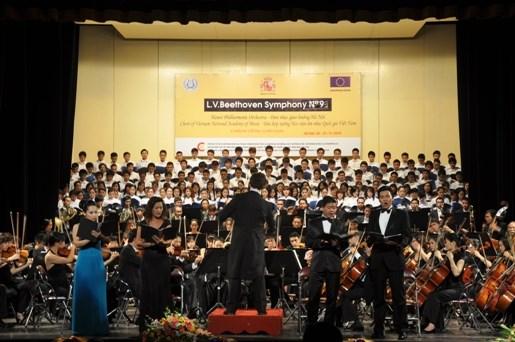 La Symphonie No. 9 de Beethoven interpretee a Hanoi hinh anh 1