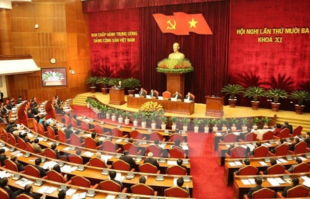 13e Plenum du CC du Parti communiste vietnamien : 5eme journee hinh anh 1