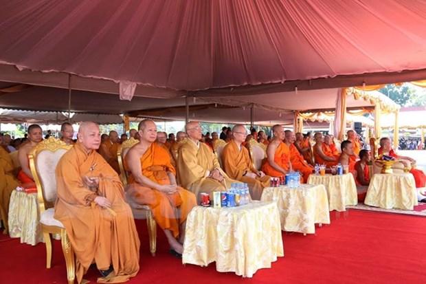 Dernier hommage du Vietnam a l'ancien president de l'Eglise bouddhique du Laos hinh anh 1