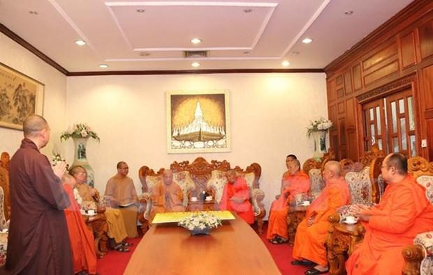 Vietnam-Laos : renforcement de la cooperation entre bouddhistes hinh anh 1