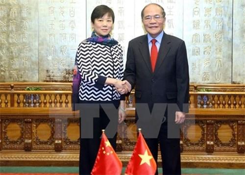Renforcement de l'amitie Vietnam-Chine hinh anh 1