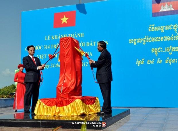 """Vietnam-Cambodge: La demarcation frontaliere """"essentiellement achevee"""" hinh anh 1"""