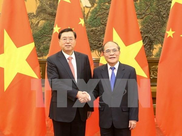 Entretien Nguyen Sinh Hung - Zhang Dejiang hinh anh 1