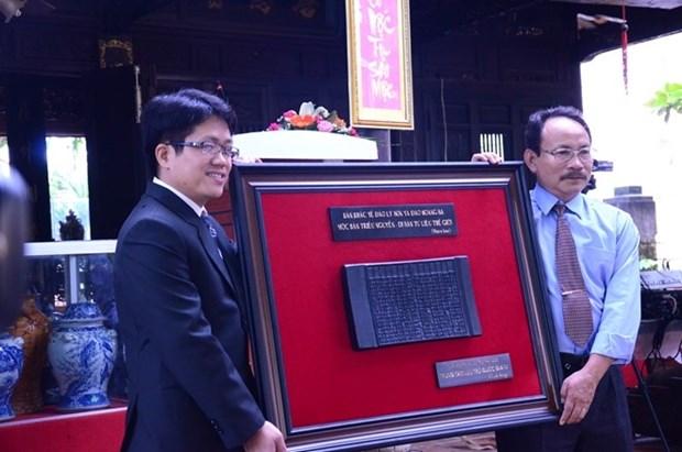 Des tablettes de bois de la dynastie des Nguyen sur l'ile de Ly Son et l'archipel de Hoang Sa hinh anh 1