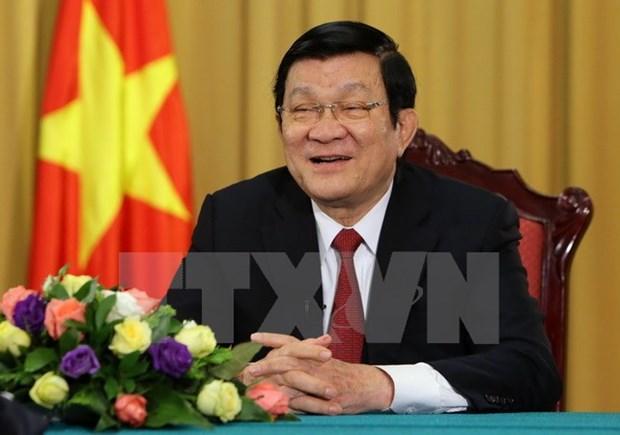 Truong Tan Sang : œuvrer ensemble pour l'essor du pays hinh anh 1