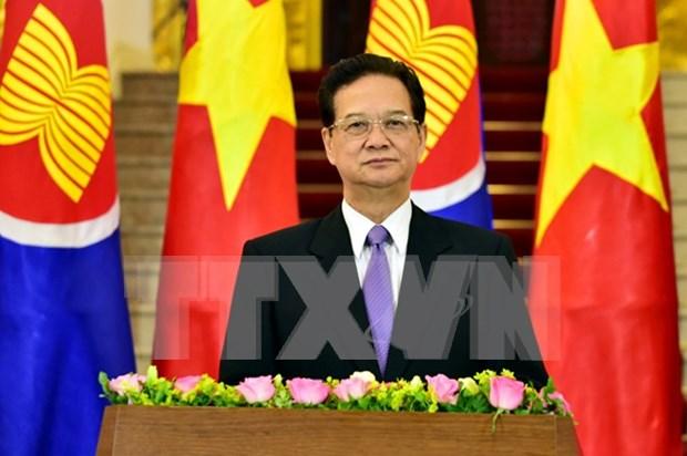 Le PM Nguyen Tan Dung salue la creation de la Communaute de l'ASEAN hinh anh 1