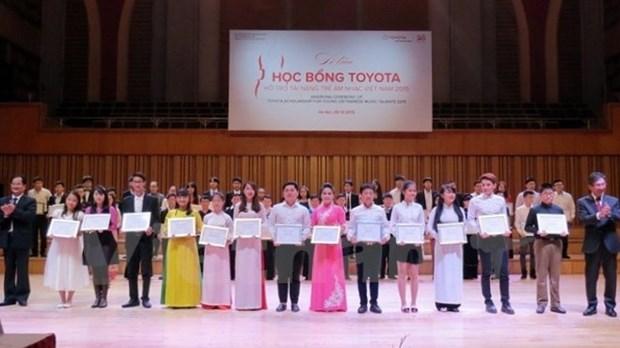 Plus de 500 millions de dongs de bourses Toyota pour des talents de la musique hinh anh 1