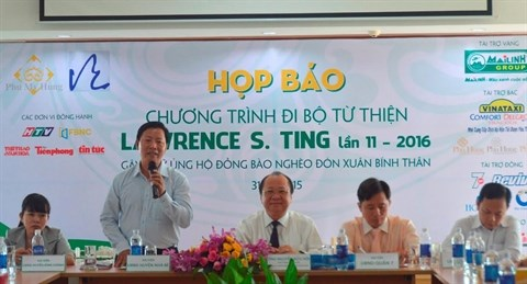 Marche caritative Lawrence S.Ting a Ho Chi Minh-Ville hinh anh 1