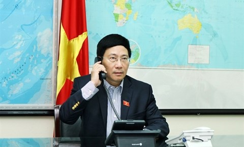 Vietnam - Etats-Unis : entretien telephonique Pham Binh Minh - John Kerry hinh anh 1