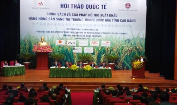 Des mesures pour doper les exportations de produits agricoles vietnamiens en Chine hinh anh 1