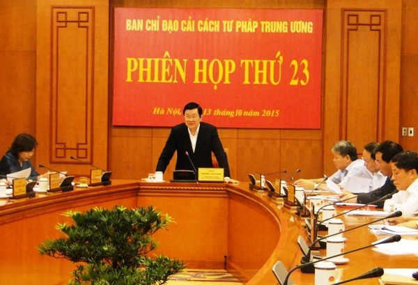 La reforme judicaire doit repondre aux exigences dans la nouvelle periode hinh anh 1