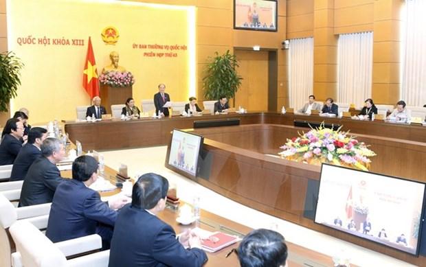 La 44e reunion du Comite permanent de l'AN prevue le 14 janvier hinh anh 1