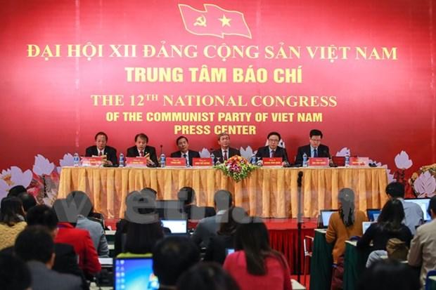 Conference de presse sur le 12e Congres national du Parti hinh anh 1