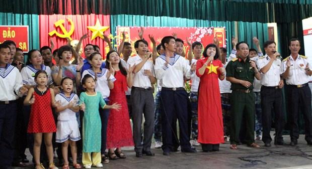 Le district insulaire de Truong Sa salue le 12eme congres national du PCV hinh anh 1