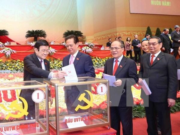 Congres du Parti: communique de presse sur le sixieme journee de travail hinh anh 1