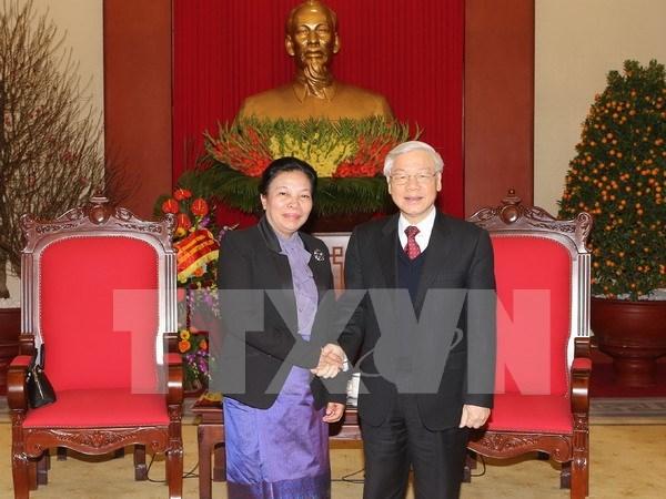 Nguyen Phu Trong recoit l'envoyee speciale du secretaire general du PPRL hinh anh 1