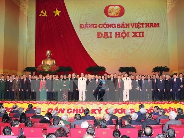 Visioconference pour communiquer les resultats du 12e Congres du Parti hinh anh 1