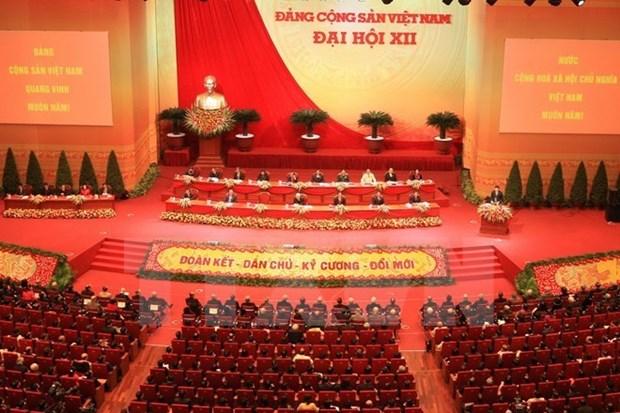 Plusieurs localites communiquent les resultats du 12e Congres du PCV hinh anh 1