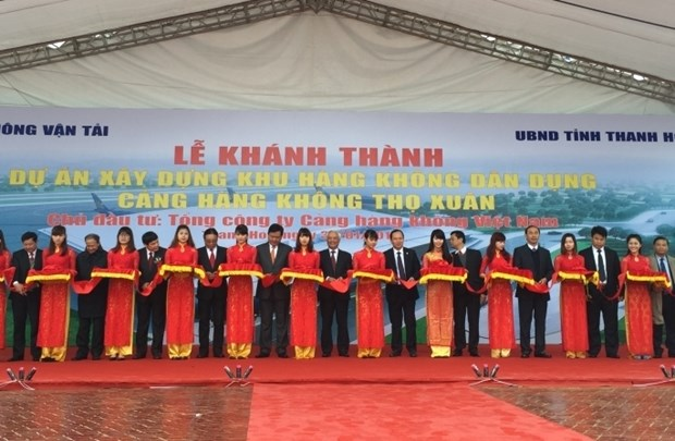 Inauguration de la zone d'aviation civile au sein de l'aeroport de Tho Xuan hinh anh 1
