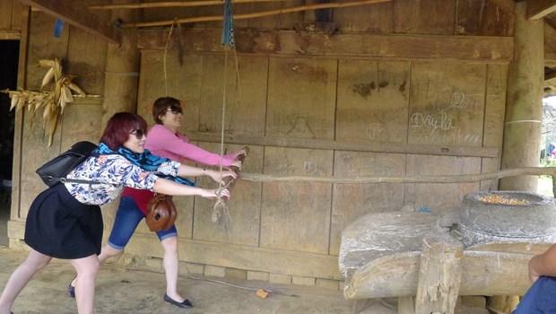 Chieng Di, un village typique Mong hinh anh 1