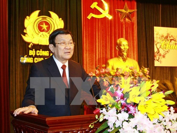 Tet : le president de la Republique presente ses vœux hinh anh 1