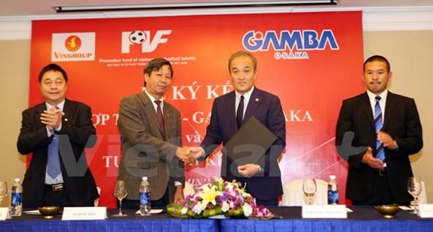 Cooperation dans la formation des footballeurs entre PVF et Gamba Osaka hinh anh 1