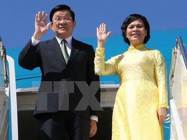 Le president Truong Tan Sang commence sa visite d'Etat en Tanzanie hinh anh 1