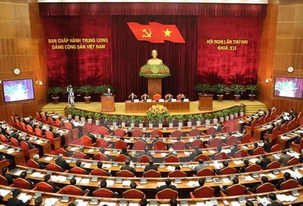 Premier jour du 2e Plenum du Comite central du Parti hinh anh 1