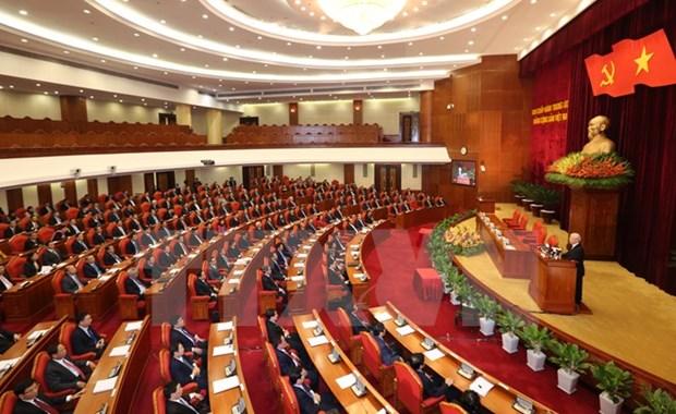 Communique du 2e Plenum du Comite central du PCV du 12e mandat hinh anh 1