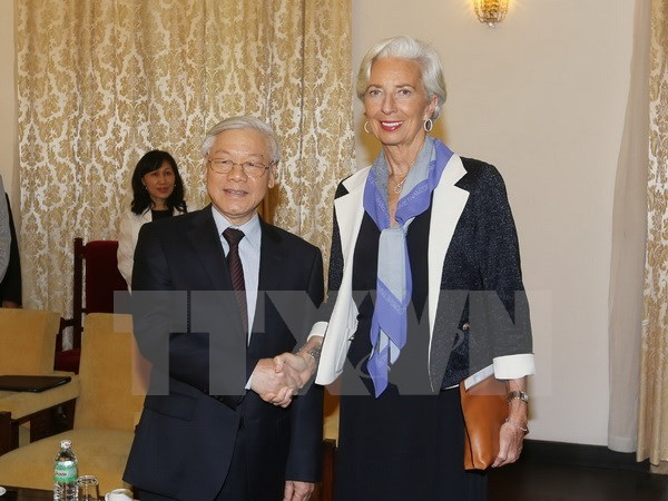Nguyen Phu Trong recoit la directrice du FMI hinh anh 1