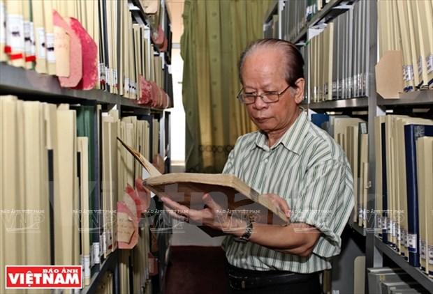 Nguyen Quang Hong, l'auteur du Dictionnaire de l'ecriture sino-vietnamienne hinh anh 1