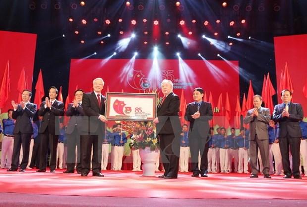 Celebration des 85 ans de l'Union de la jeunesse communiste Ho Chi Minh hinh anh 1