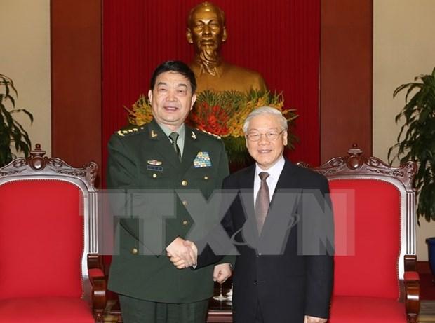 Le leader du PCV recoit le ministre chinois de la Defense hinh anh 1
