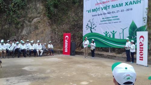 Canon Vietnam lance un programme de reboisement a Thanh Hoa hinh anh 1