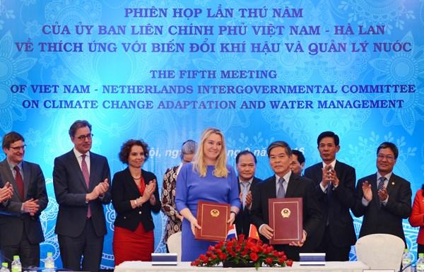 Vietnam et Pays-Bas reunis sur le changement climatique et la gestion de l'eau hinh anh 1