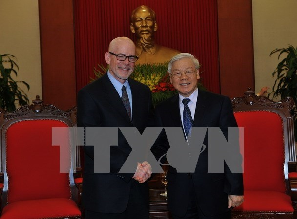 Le leader du PCV rencontre le president du Parti communiste des Etats-Unis hinh anh 1