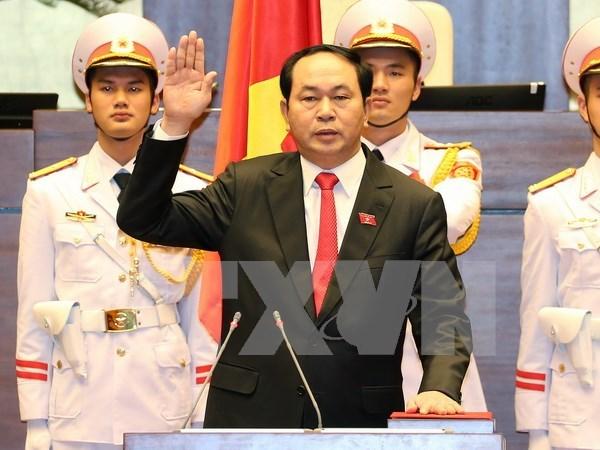 Le nouveau president du Vietnam prete serment hinh anh 1