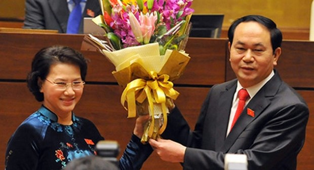 Messages de felicitations aux dirigeants vietnamiens hinh anh 1
