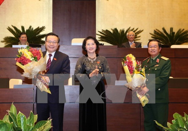 Do Ba Ty et Phung Quoc Hien elus vice-presidents de l'Assemblee nationale hinh anh 1