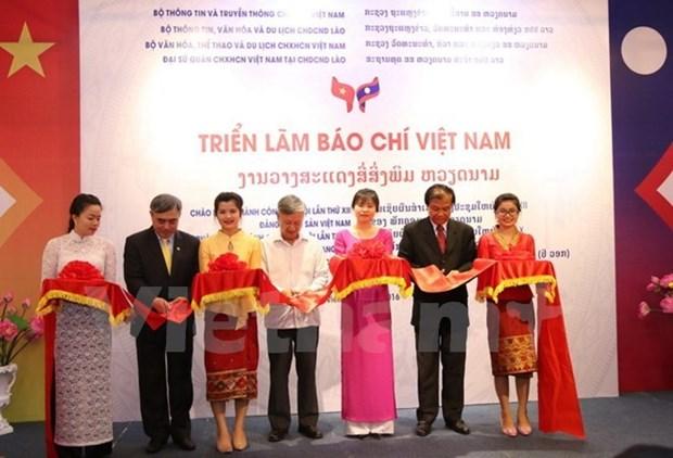 La presse vietnamienne s'expose et impressionne au Laos hinh anh 1
